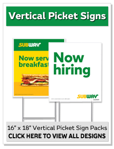 "16"" x 18"" Vertical Picket Sign"