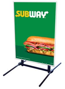Outdoor Self Standing Sign - Subway Logo
